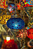 Colourful turkish lanterns Royalty Free Stock Image