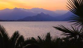 Colourful turkish sunset. Antalya, Turkey stock photos