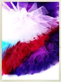 Colourful tutu skirts. Tulle skirts in bright colours Stock Images