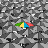 Colourful umbrella Royalty Free Stock Photography