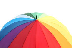 Colourful umbrella isolated Royalty Free Stock Photography