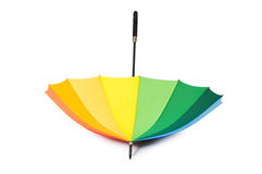 Colourful umbrella isolated Royalty Free Stock Photos