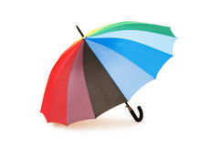 Colourful umbrella isolated Stock Photos