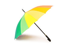 Colourful umbrella isolated Stock Images