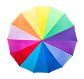 Colourful umbrella isolated with path Stock Photo