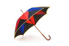 Colourful umbrella isolated on the white Royalty Free Stock Photos