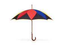 Colourful umbrella isolated on the white Stock Photography
