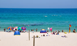 Colourful Umbrella's: Cottesloe Beach royalty free stock images