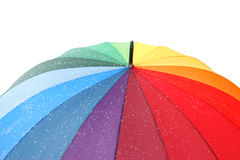 Colourful umbrella with snowflake Stock Photography