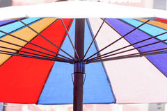 Colourful umbrellas its is wallpaper or screen or abstract background. Stock Photos