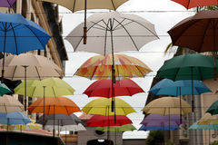 Colourful umbrellas Stock Photography