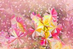 Colourful uroczy krystalizuje abstrakcjonistycznego kwiatu tło wewnątrz past Zdjęcia Royalty Free