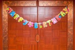 Colourful urodzinowe dekoracje obraz stock
