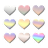 Colourful Valentine love heart symbol collection. Stock Photos