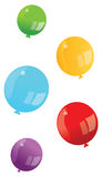 Colourful vector baloons Royalty Free Stock Photo
