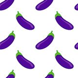 Eggplant seamless pattern. Colourful vector eggplant seamless pattern stock illustration
