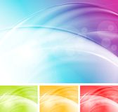 Colourful vector waves abstract design Royalty Free Stock Images