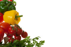 Colourful Vegetables. Isolated on White Background Royalty Free Stock Images