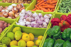 Colourful vegetables at a market Royalty Free Stock Images