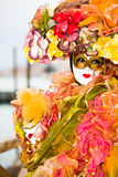 Colourful Venetian Costume Stock Image