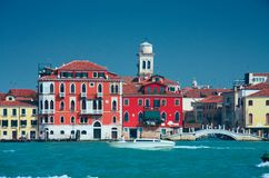 Colourful Venice embankment sea view Royalty Free Stock Photo
