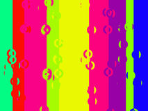 Colourful vertical stripes bars and circles stock illustration