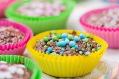 Colourful vertigo muffins different colors Stock Photo