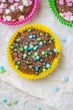 Colourful vertigo muffins different colors Stock Photos