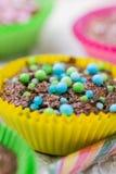 Colourful vertigo muffins different colors Royalty Free Stock Photo