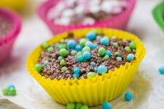 Colourful vertigo muffins different colors Royalty Free Stock Image