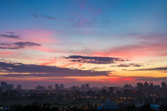 Colourful Vibrant Sunrise Durban South Africa Stock Photos