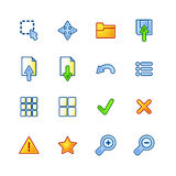 Colourful viewer icons. Colourful viewer vector icons on the white background Stock Photography