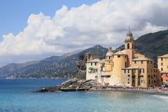 Colourful village facing the sea in Camogli Stock Images