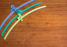 Colourful vintage hangers Royalty Free Stock Image