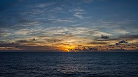 A colourful vivid sunset Royalty Free Stock Image