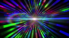 Colourful vortex design with lights. Digital animation of Colourful vortex design with lights stock illustration