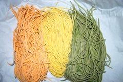 Colourful Włoski makaronu tagliatelle Fotografia Royalty Free