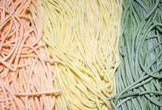 Colourful Włoski makaronu tagliatelle Obraz Stock