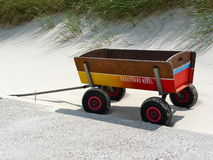 Colourful wagon at the beach Royalty Free Stock Image