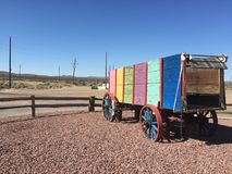 Colourful wagon. Royalty Free Stock Photography
