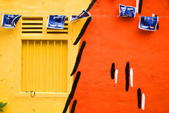 Colourful Wall. Of one of the homes in Melaka Stock Image