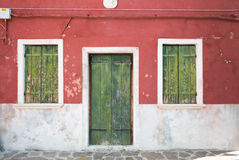 Colourful wall of picturesque house Royalty Free Stock Image