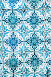 Colourful wall tile design of Lisboa, Portugal. Beautiful and colouful glaced wall tiles - typical for the tile covered houses of Lisboa stock image