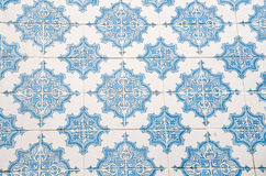 Colourful wall tile design of Lisboa, Portugal. Beautiful and colouful glaced wall tiles - typical for the tile covered houses of Lisboa royalty free stock image