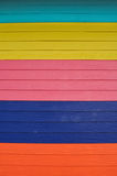 The colourful wall. The colourful wooden wall of the small house at Laan island Royalty Free Stock Photo