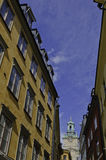Colourful walls of old Stockholm Royalty Free Stock Images
