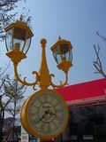Colourful watch lamp in the fantasy park Royalty Free Stock Photos