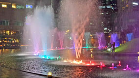 Colourful Water Feature Royalty Free Stock Photography