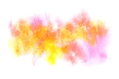 Colourful watercolor stains Royalty Free Stock Photos