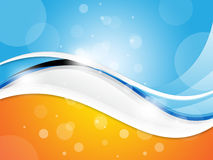 Colourful Wave Background Shows Wavy Design Artwork Royalty Free Stock Image